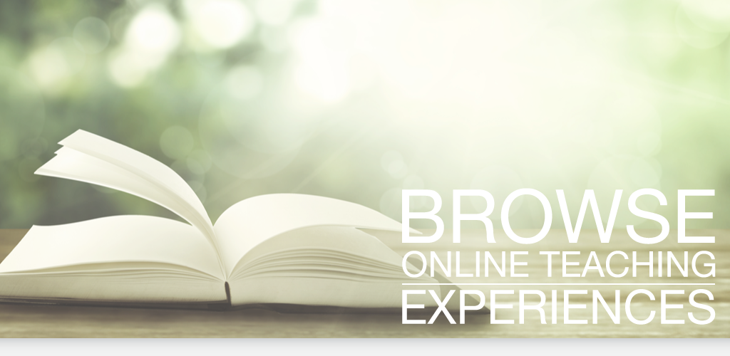 Browse Online Teaching Experiences